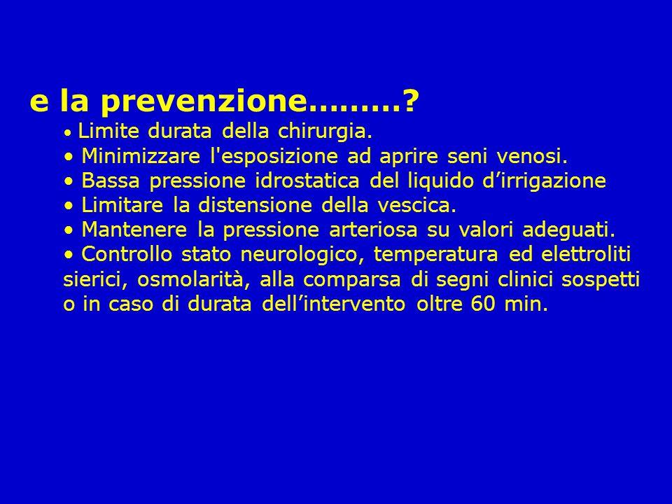 e la prevenzione……… Minimizzare l esposizione ad aprire seni venosi.