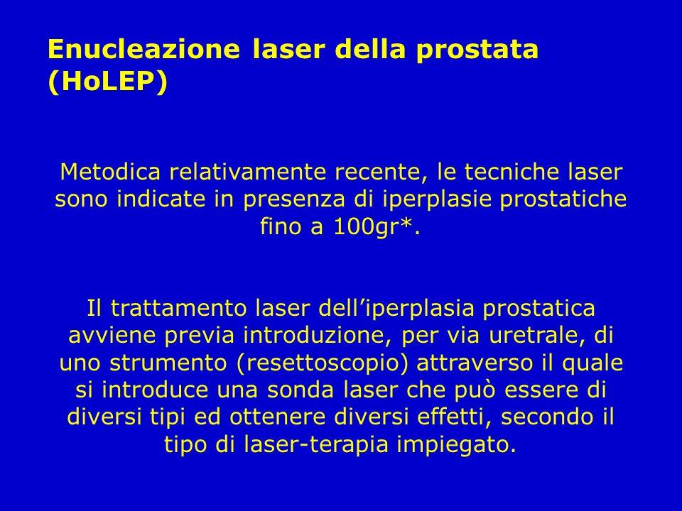Enucleazione laser della prostata (HoLEP)