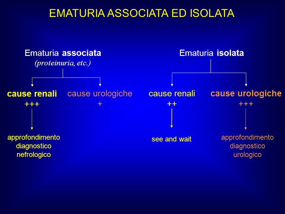 EMATURIA ASSOCIATA ED ISOLATA