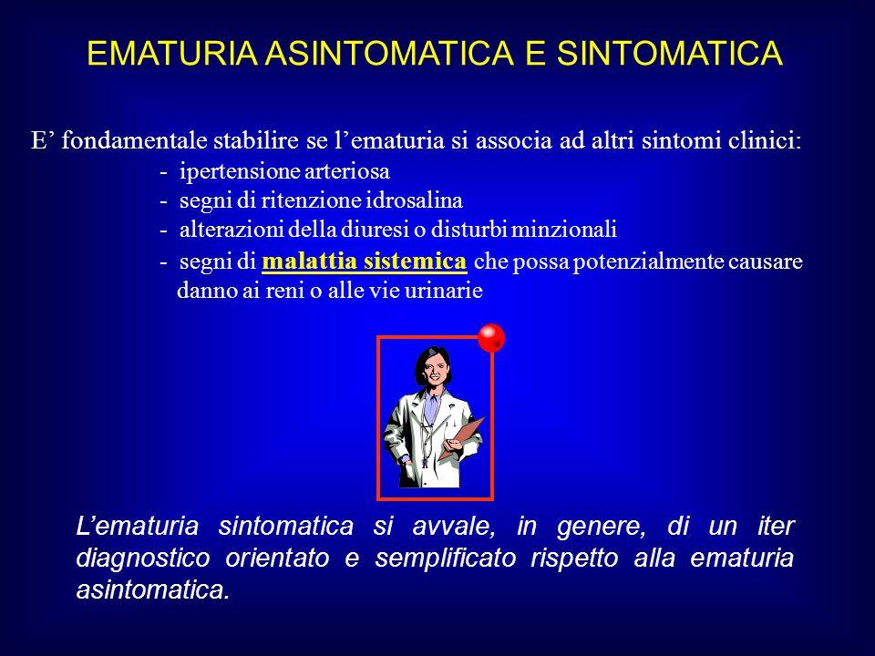 EMATURIA ASINTOMATICA E SINTOMATICA