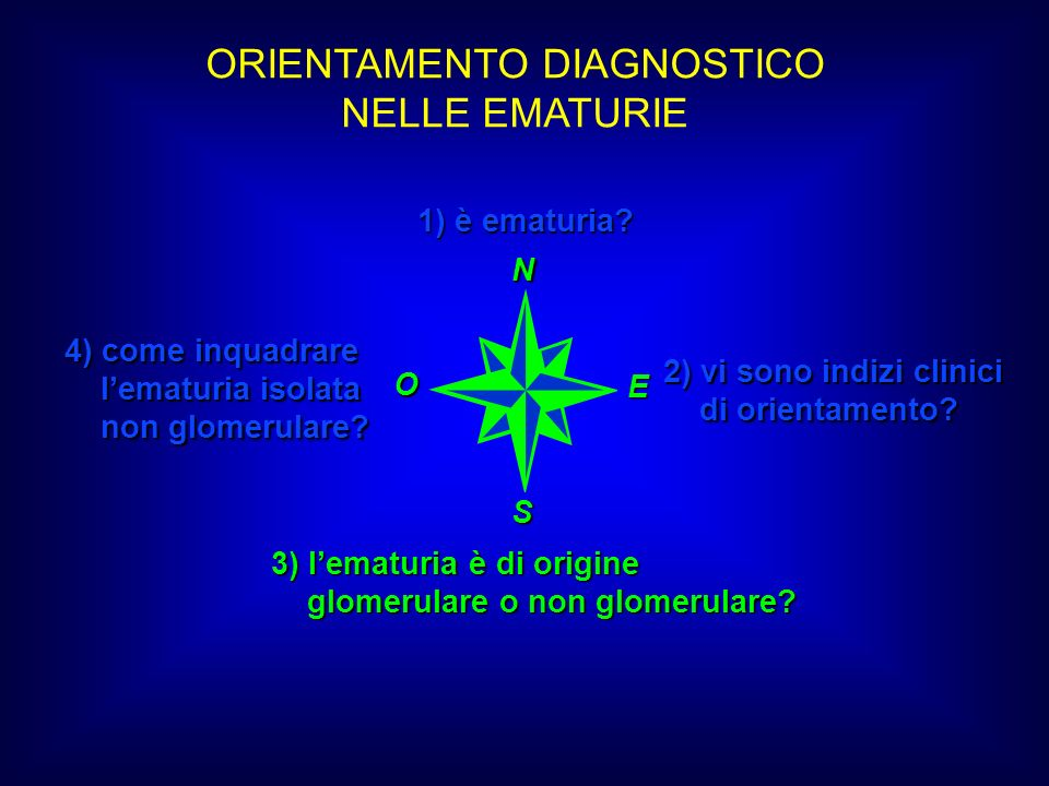 ORIENTAMENTO DIAGNOSTICO NELLE EMATURIE