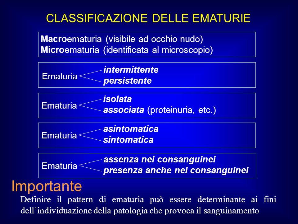 CLASSIFICAZIONE DELLE EMATURIE