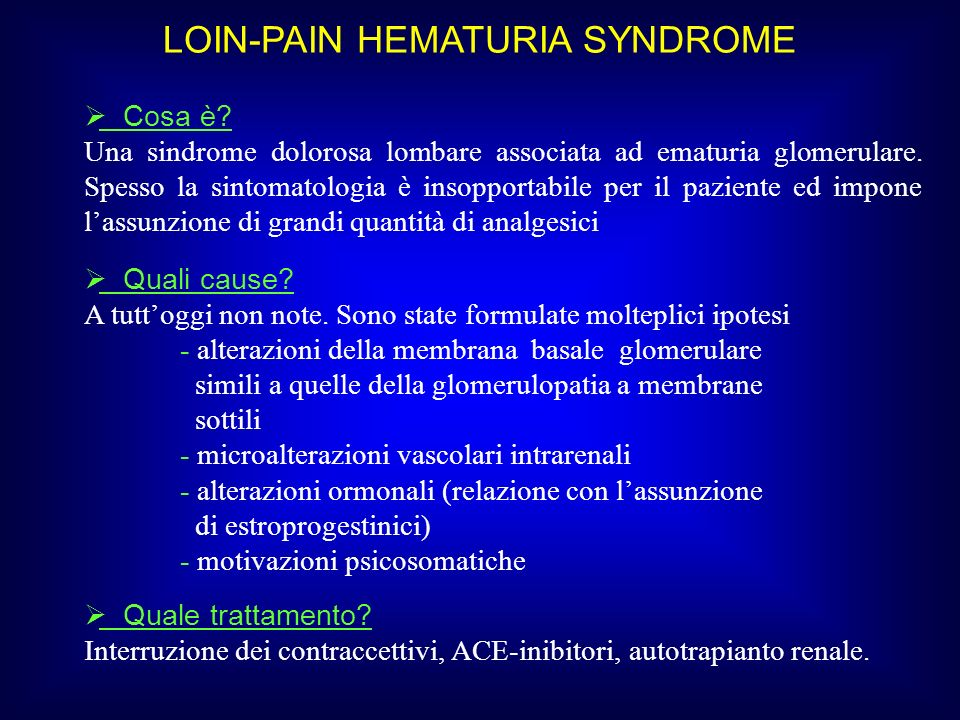 LOIN-PAIN HEMATURIA SYNDROME