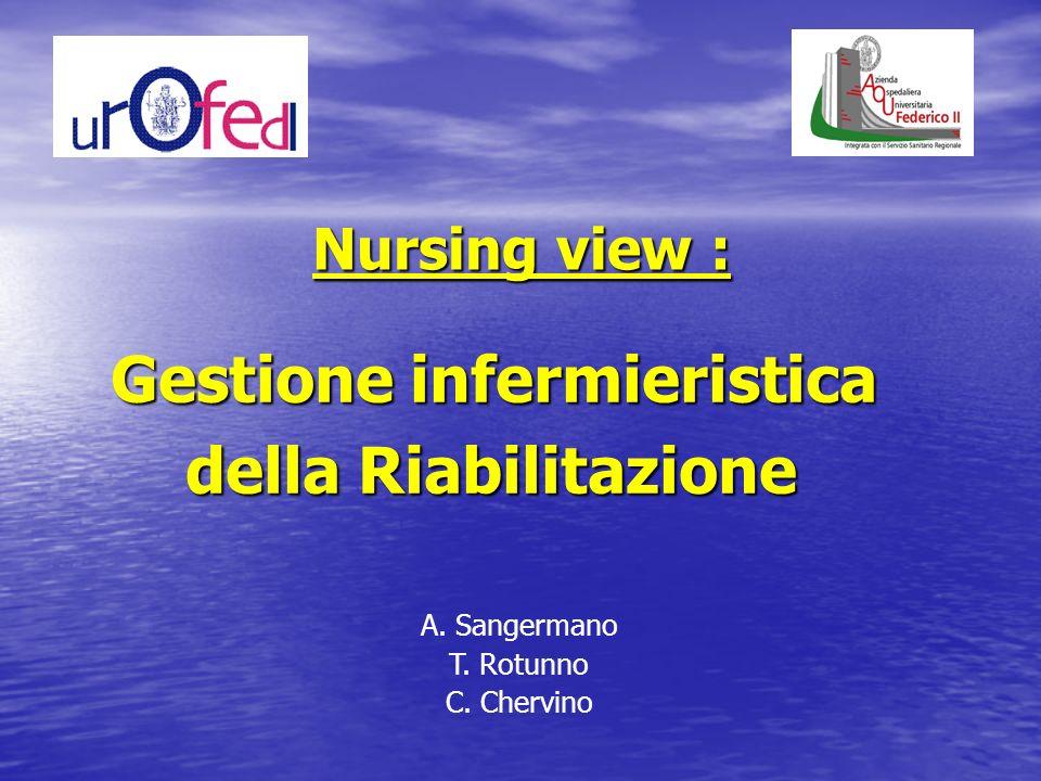 Gestione infermieristica della Riabilitazione