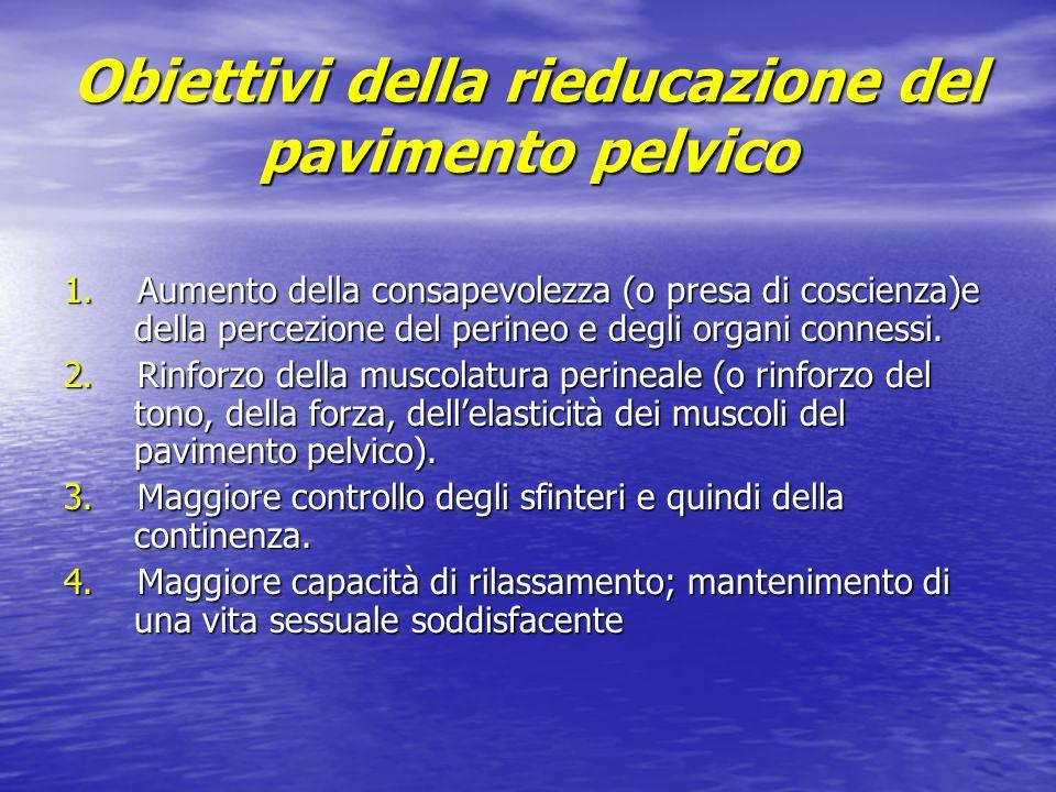 Obiettivi della rieducazione del pavimento pelvico