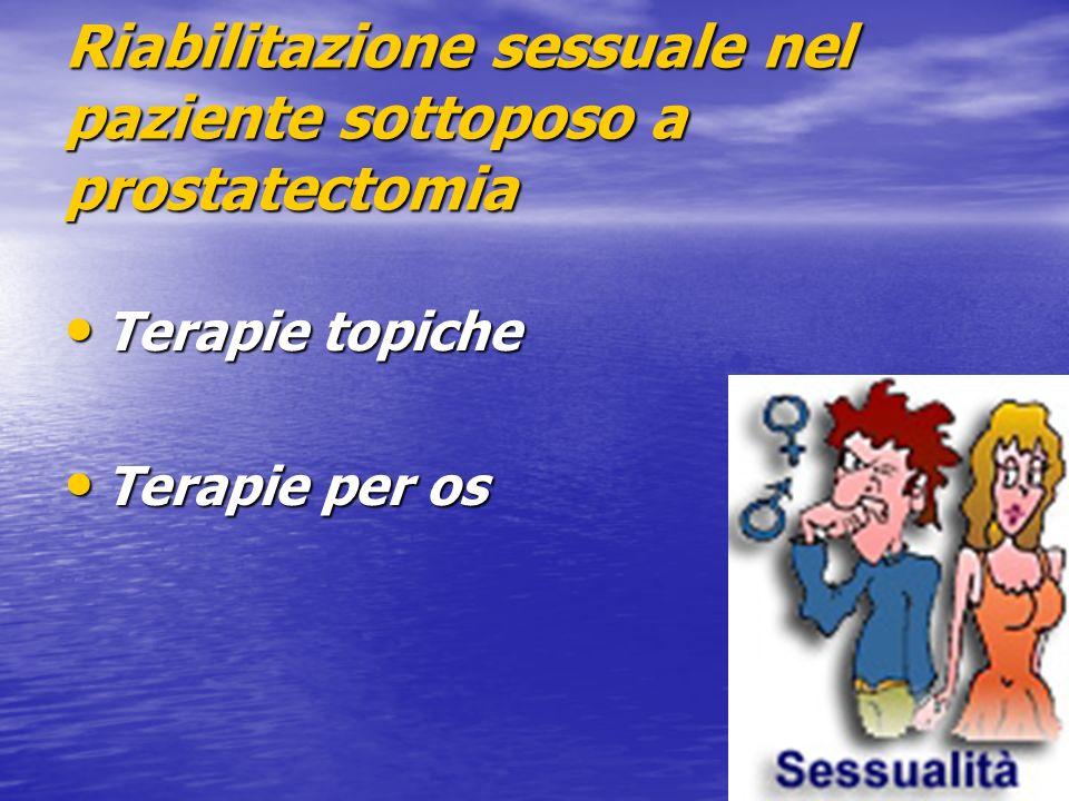 Riabilitazione sessuale nel paziente sottoposo a prostatectomia