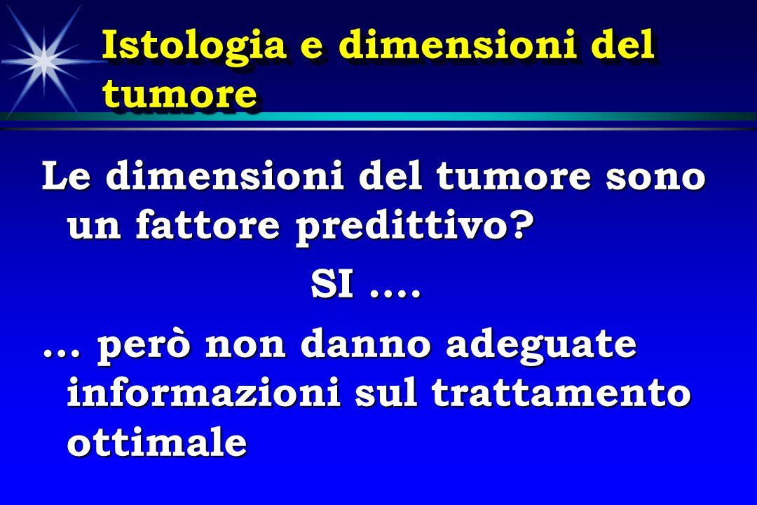 Istologia e dimensioni del tumore