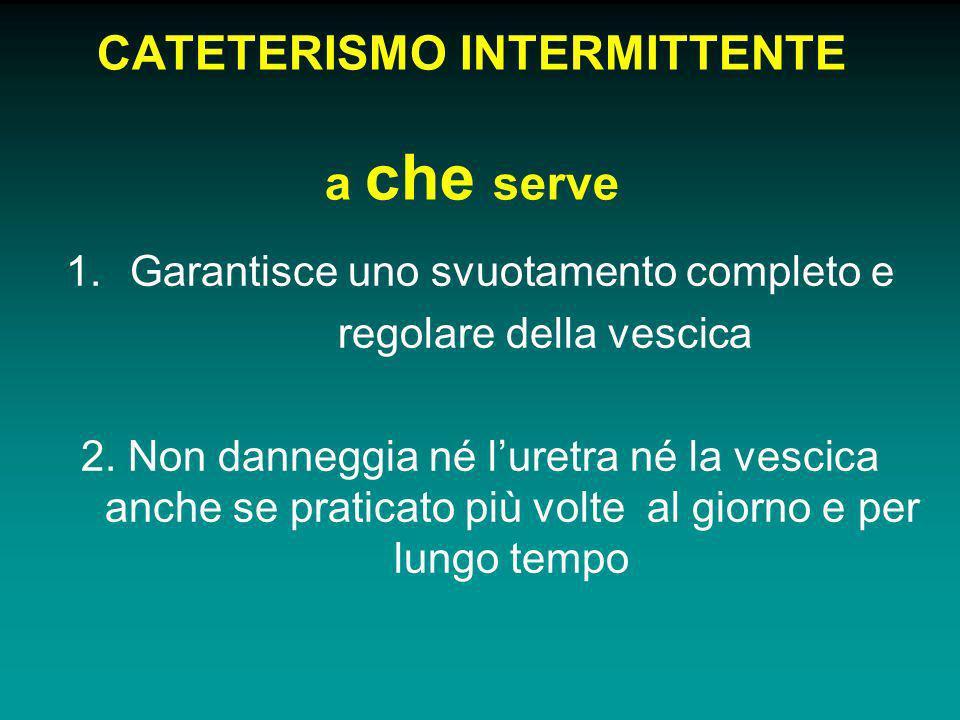 CATETERISMO INTERMITTENTE a che serve