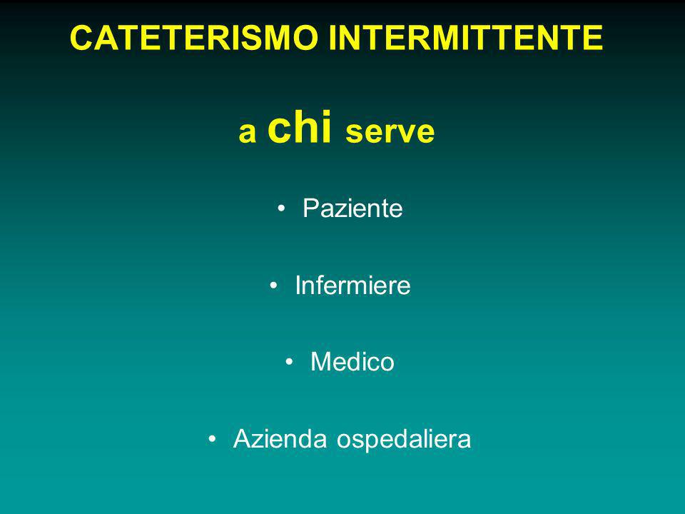 CATETERISMO INTERMITTENTE a chi serve