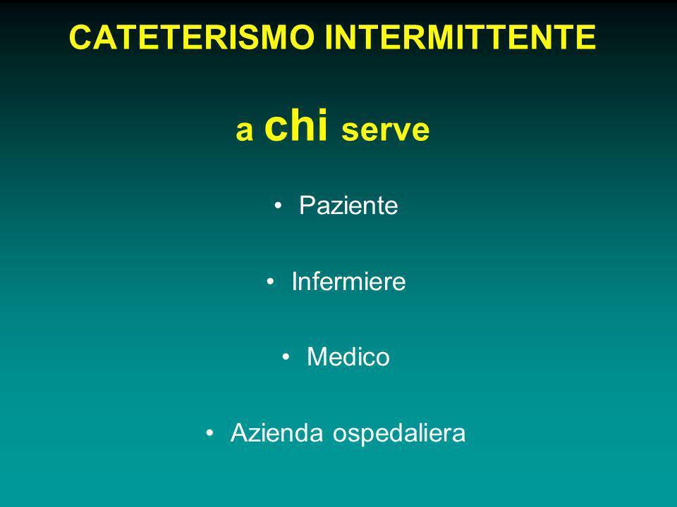 CATETERISMO INTERMITTENTE a chi serve