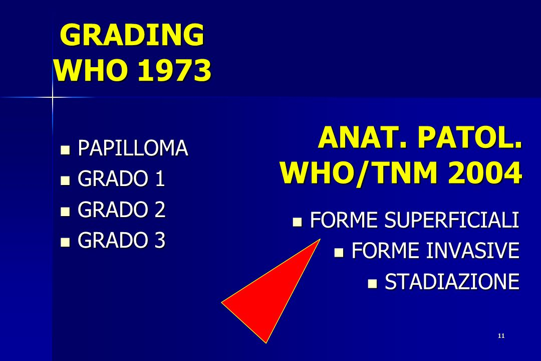 GRADING WHO 1973 ANAT. PATOL. WHO/TNM 2004 PAPILLOMA GRADO 1 GRADO 2