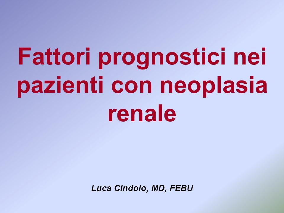 Fattori prognostici nei pazienti con neoplasia renale
