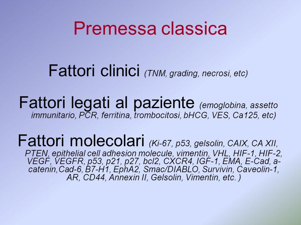 Fattori clinici (TNM, grading, necrosi, etc)