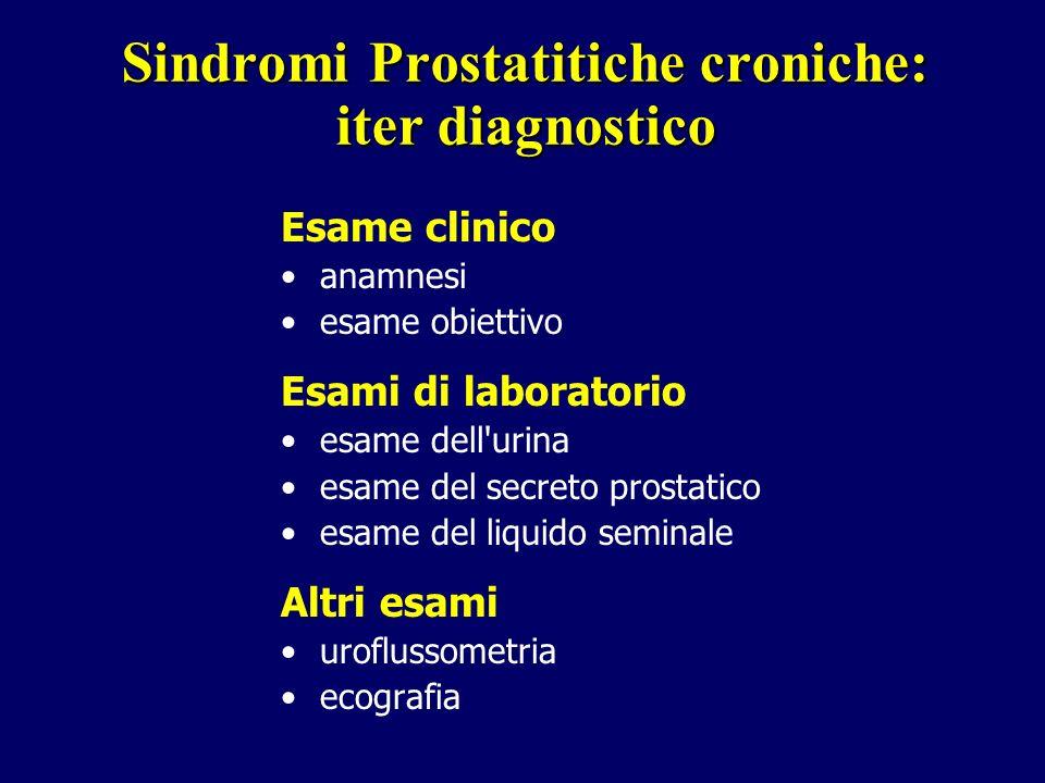 Sindromi Prostatitiche croniche: iter diagnostico
