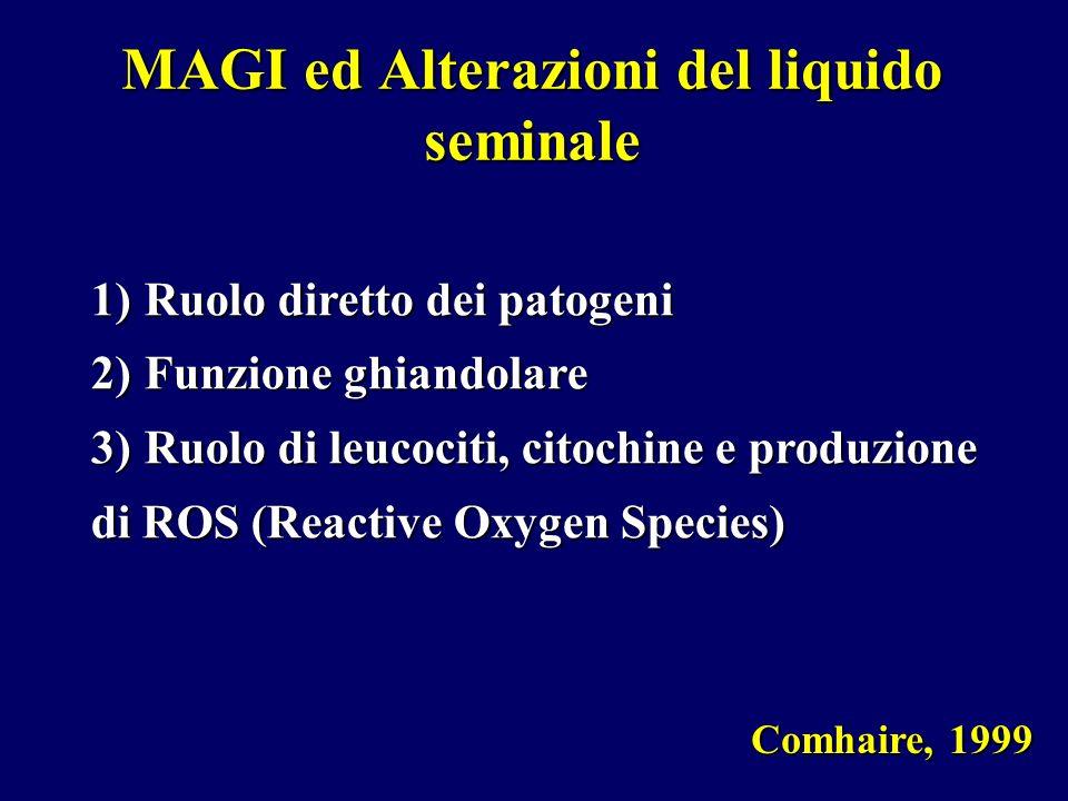MAGI ed Alterazioni del liquido seminale