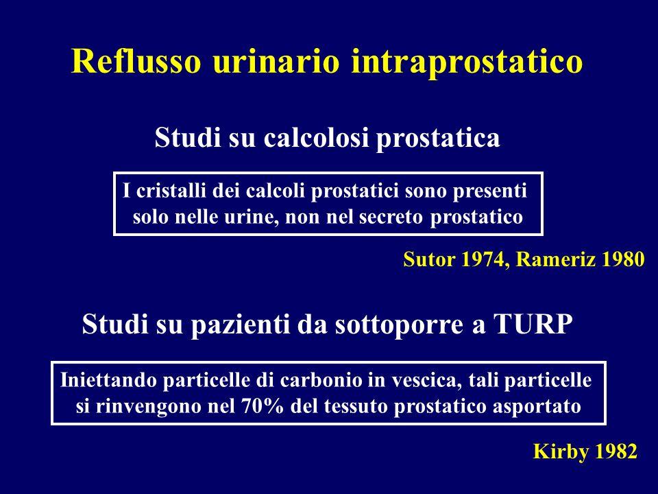 Reflusso urinario intraprostatico
