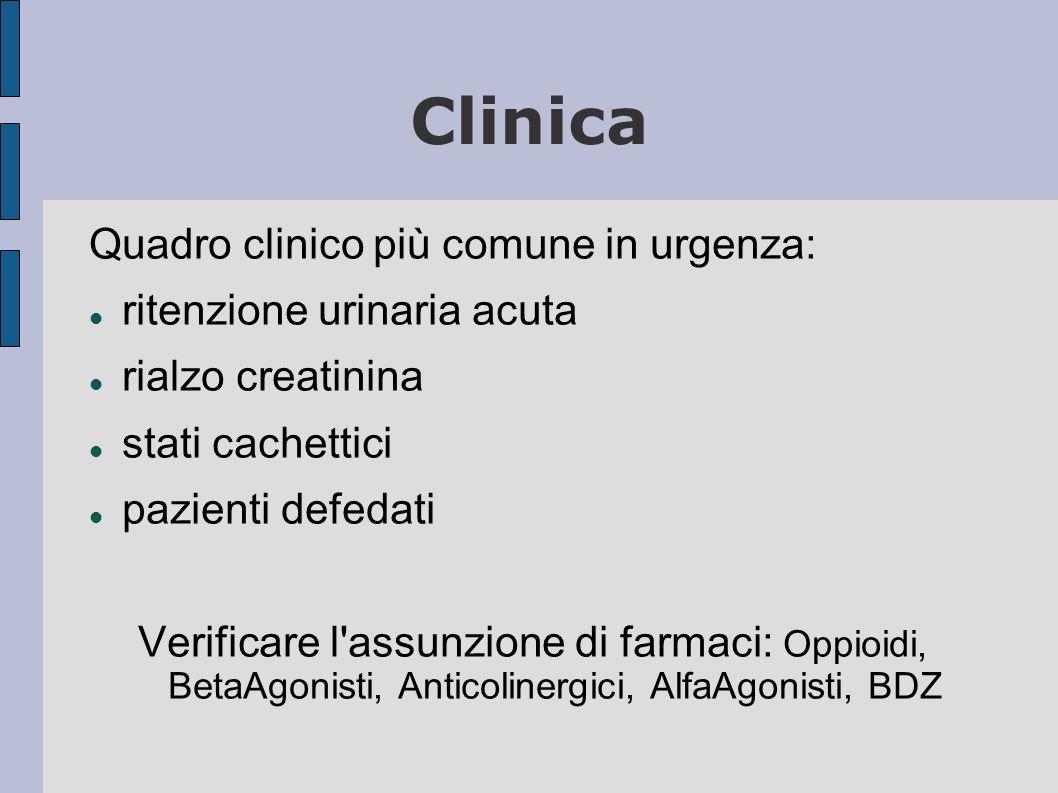 Clinica Quadro clinico più comune in urgenza: