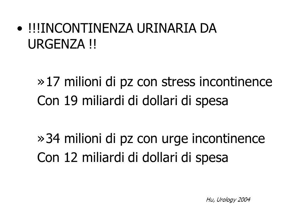 !!!INCONTINENZA URINARIA DA URGENZA !!