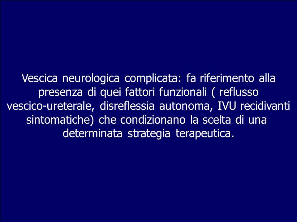 Vescica neurologica complicata: fa riferimento alla