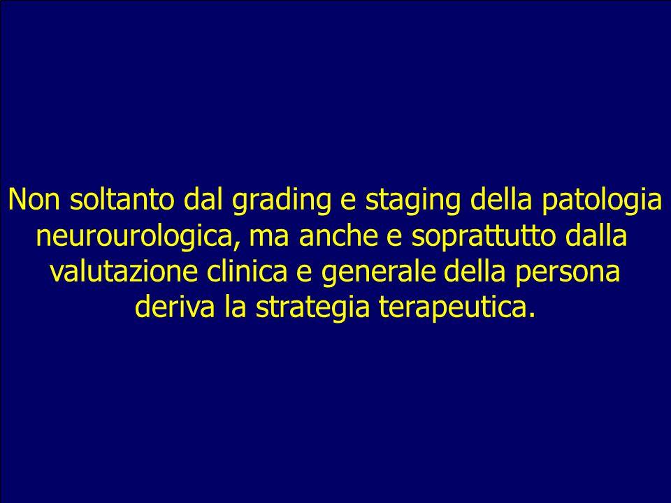 Non soltanto dal grading e staging della patologia
