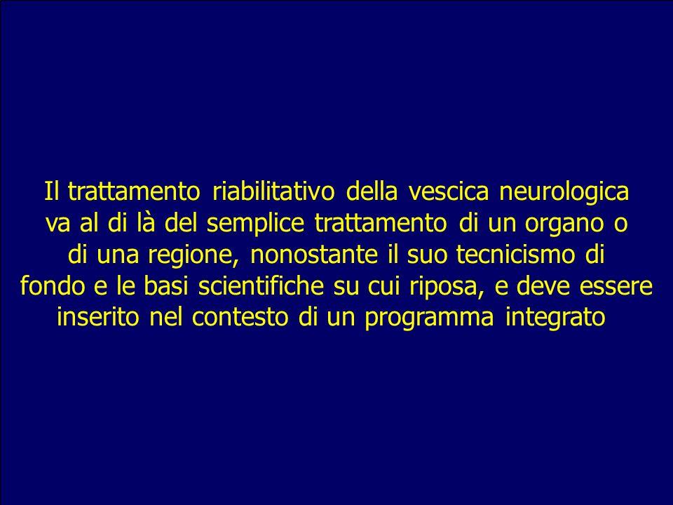 Il trattamento riabilitativo della vescica neurologica