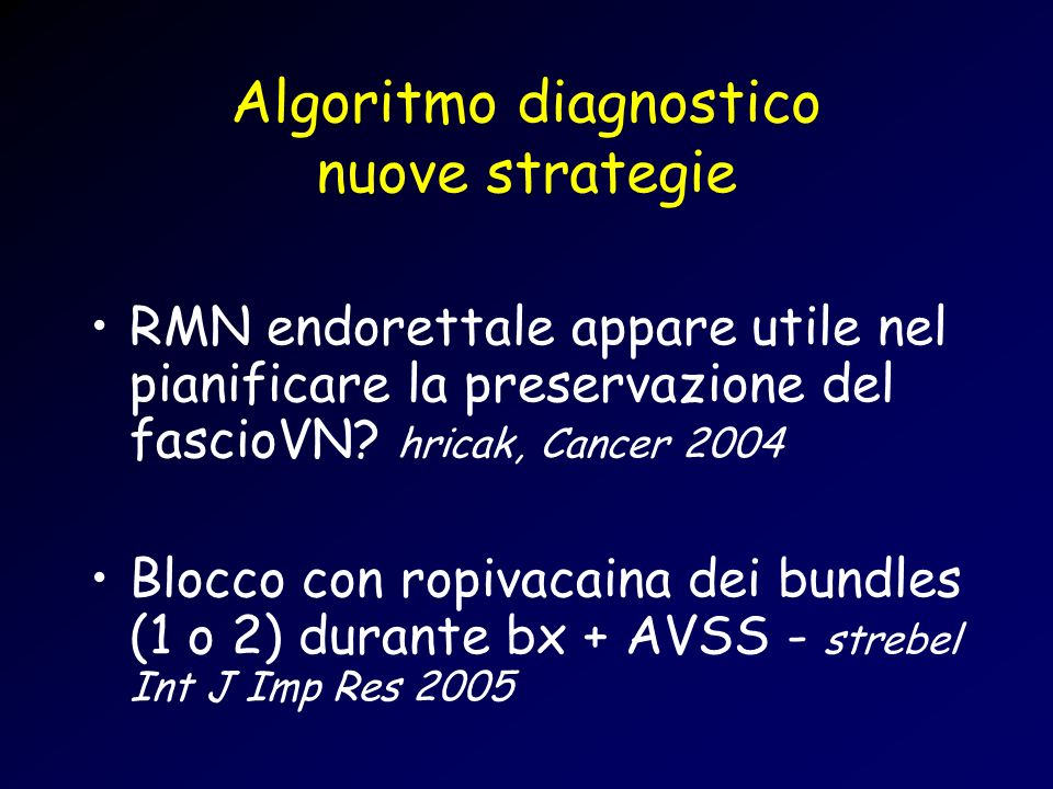 Algoritmo diagnostico nuove strategie