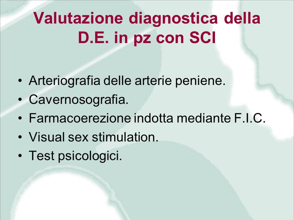 Valutazione diagnostica della D.E. in pz con SCI