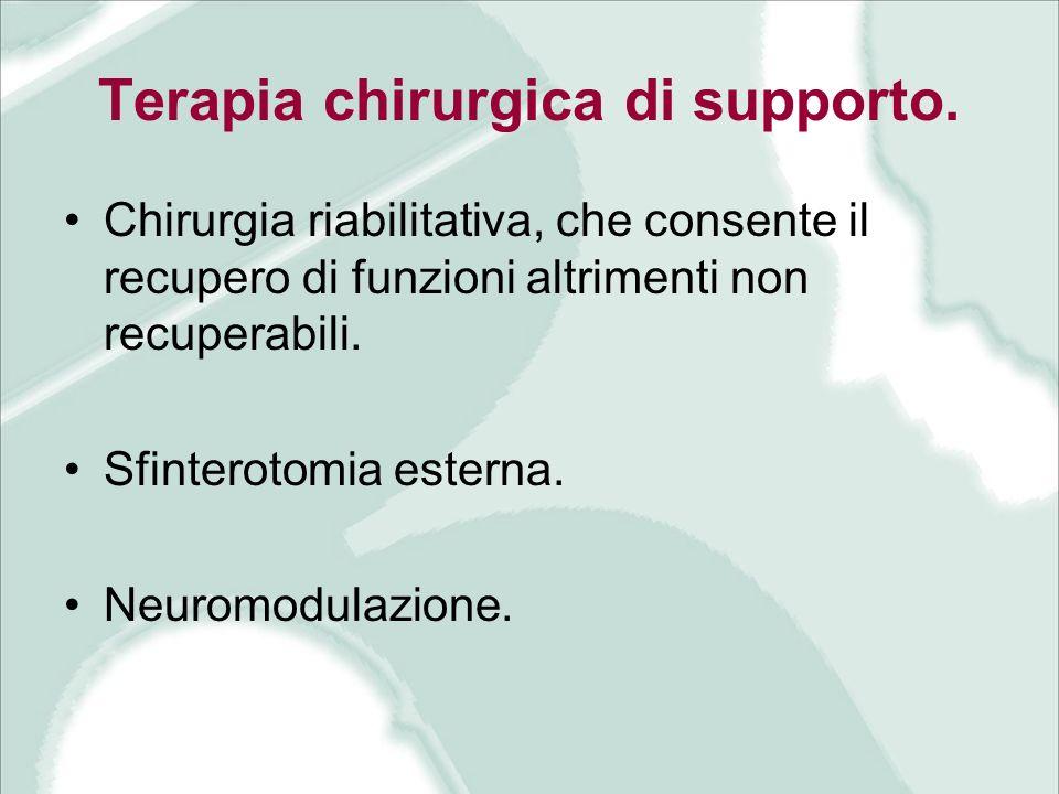 Terapia chirurgica di supporto.