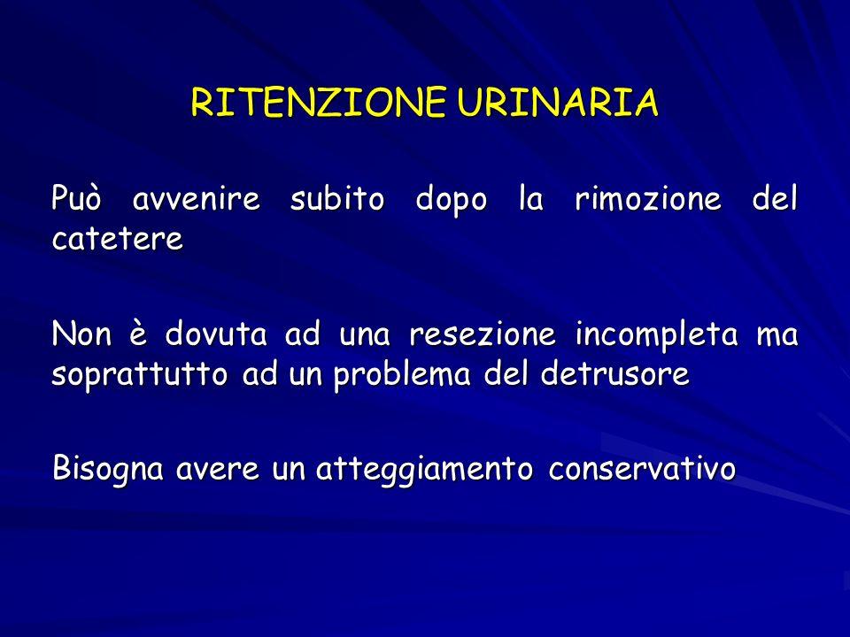 RITENZIONE URINARIA