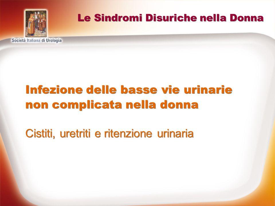 Le Sindromi Disuriche nella Donna