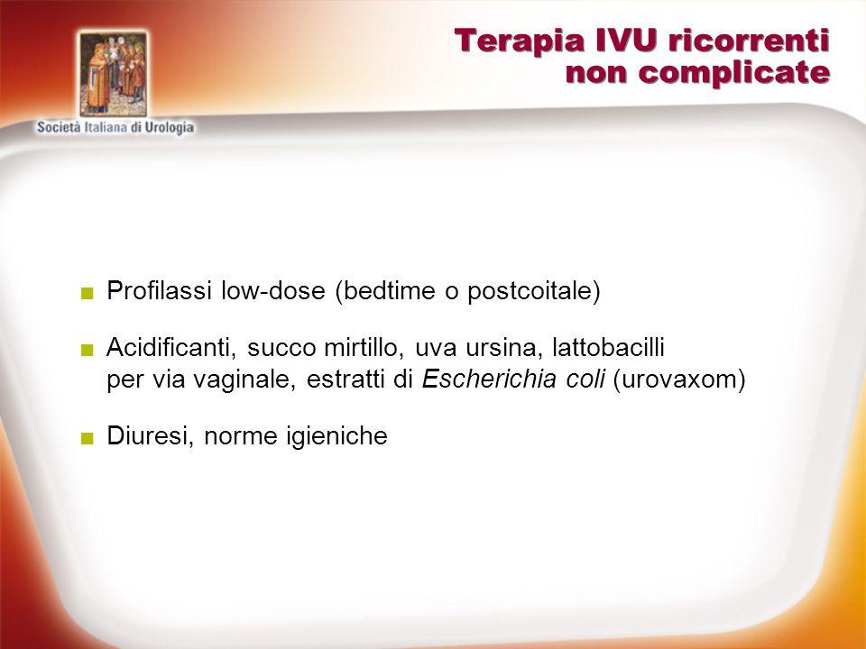 Terapia IVU ricorrenti non complicate
