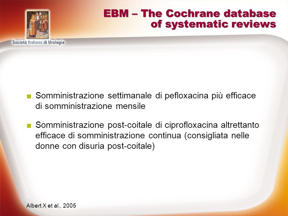 EBM – The Cochrane database of systematic reviews