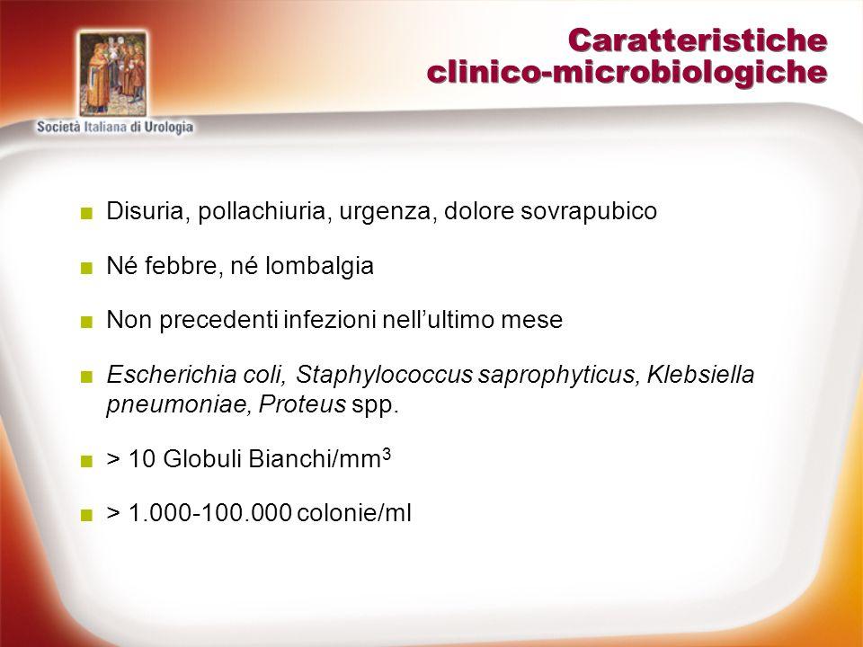 Caratteristiche clinico-microbiologiche