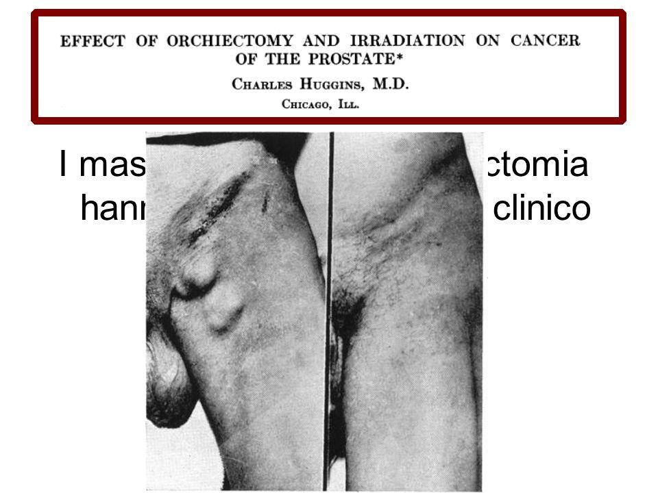 I maschi trattati con orchiectomia hanno un ottimo decorso clinico