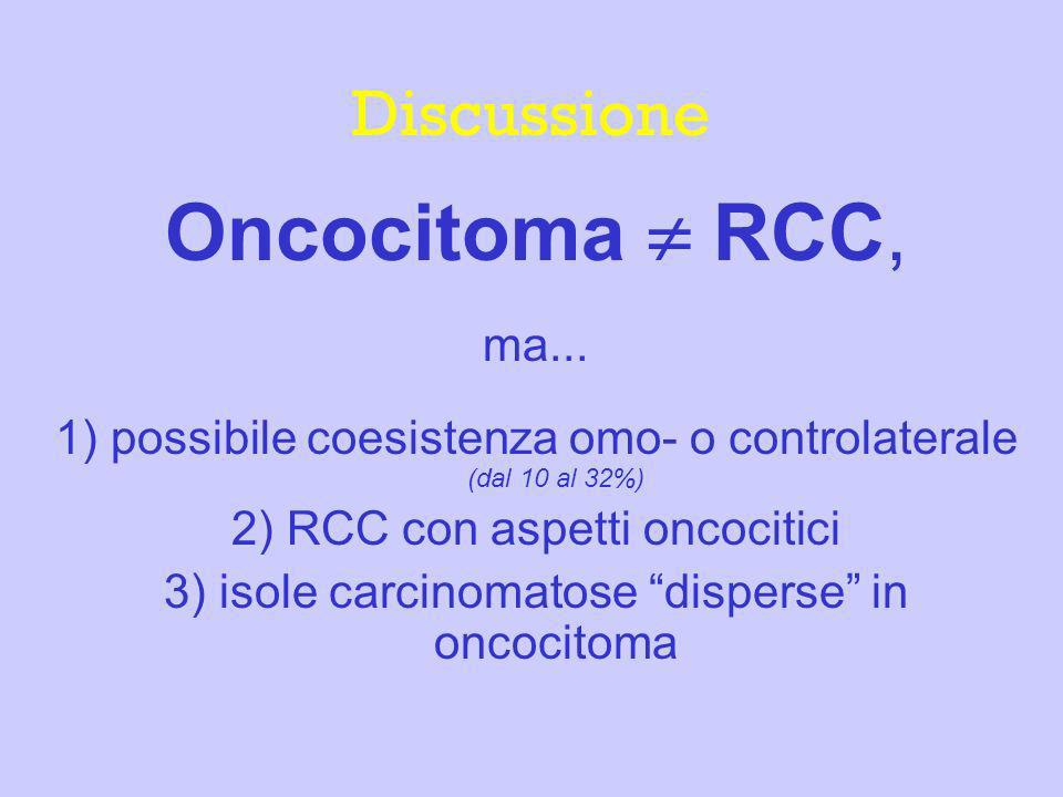 Oncocitoma  RCC, Discussione ma...