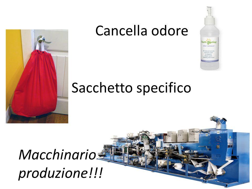 Cancella odore Sacchetto specifico Macchinario produzione!!!
