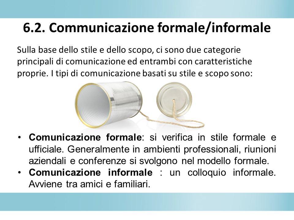 6.2. Communicazione formale/informale
