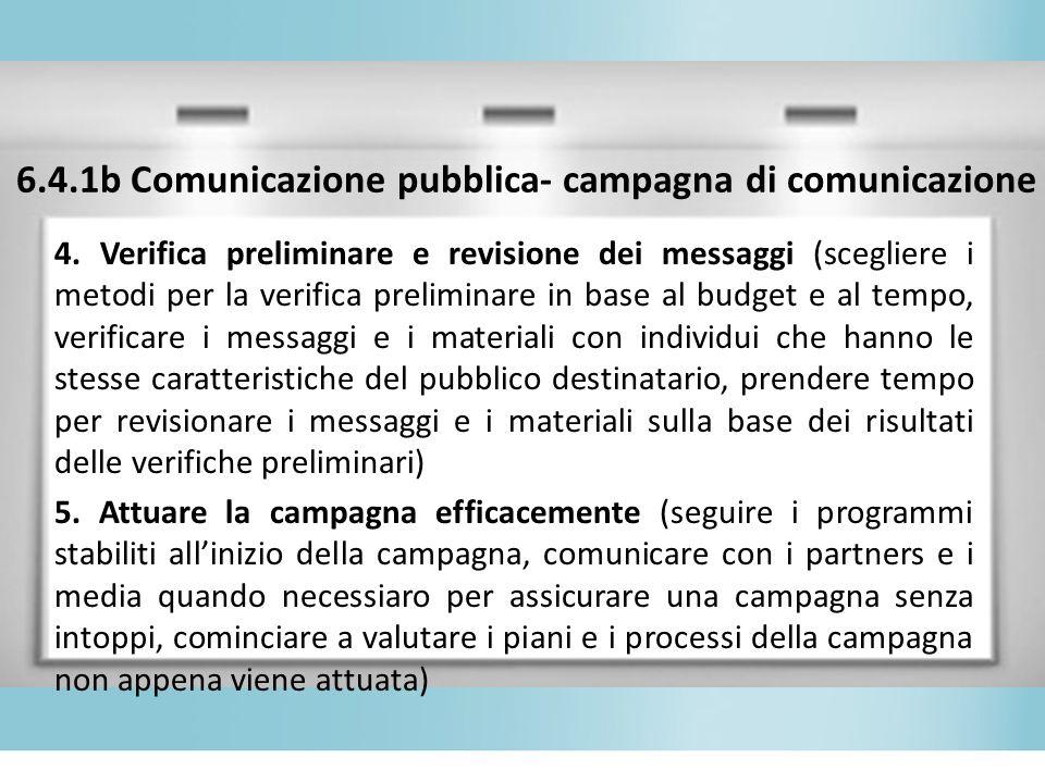6.4.1b Comunicazione pubblica- campagna di comunicazione