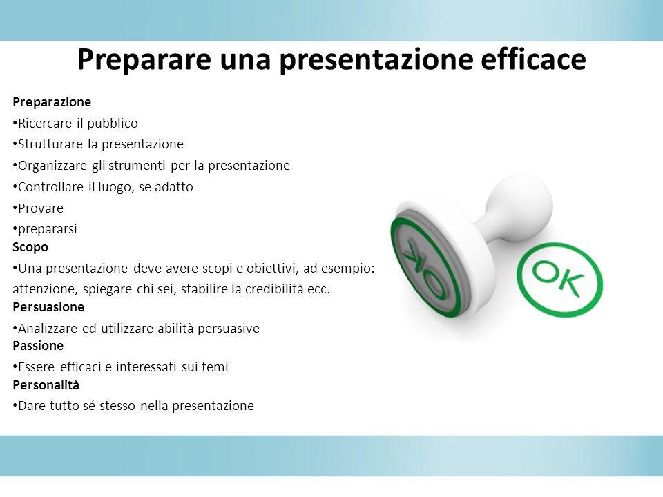 Preparare una presentazione efficace