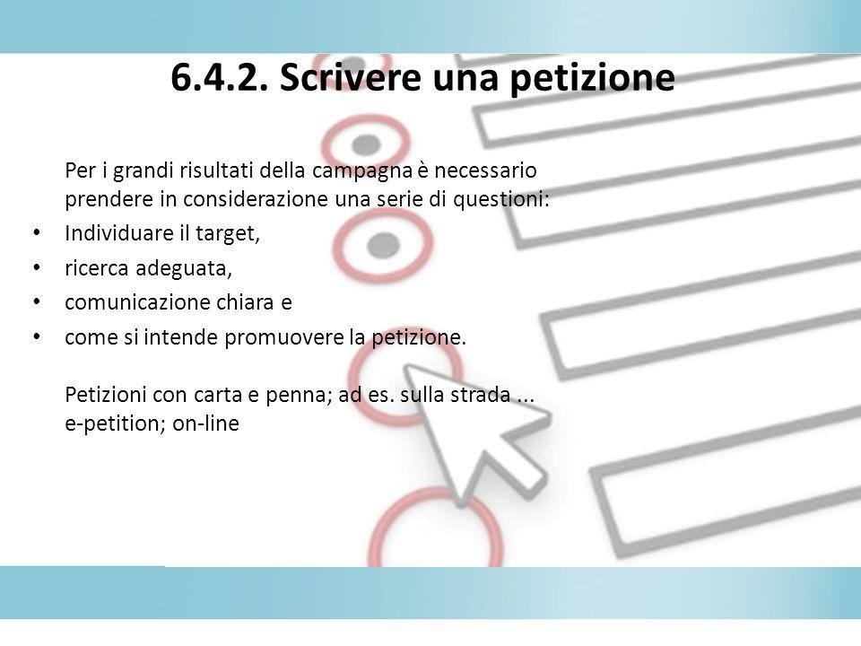 6.4.2. Scrivere una petizione