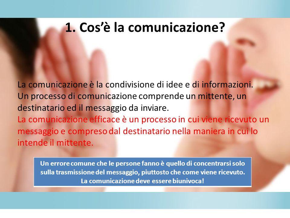 1. Cos'è la comunicazione