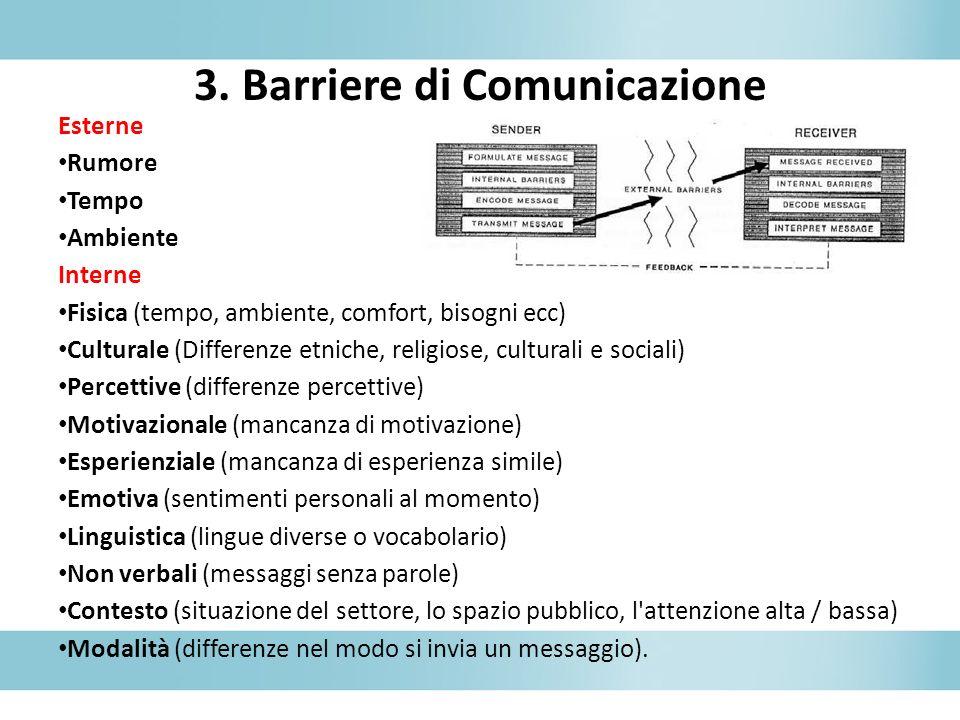3. Barriere di Comunicazione