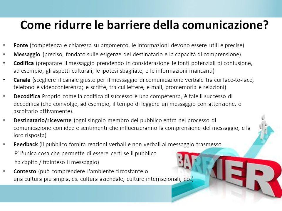 Come ridurre le barriere della comunicazione