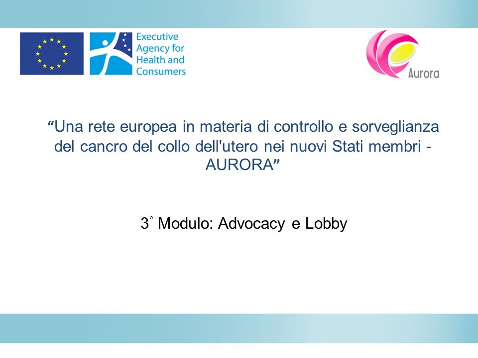 3° Modulo: Advocacy e Lobby