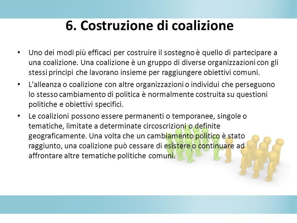 6. Costruzione di coalizione