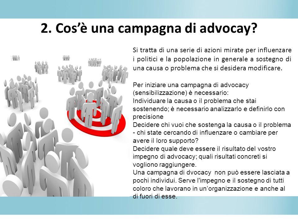 2. Cos'è una campagna di advocay