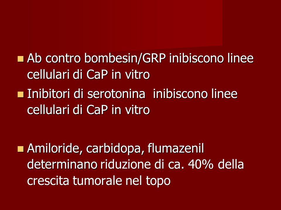 Ab contro bombesin/GRP inibiscono linee cellulari di CaP in vitro