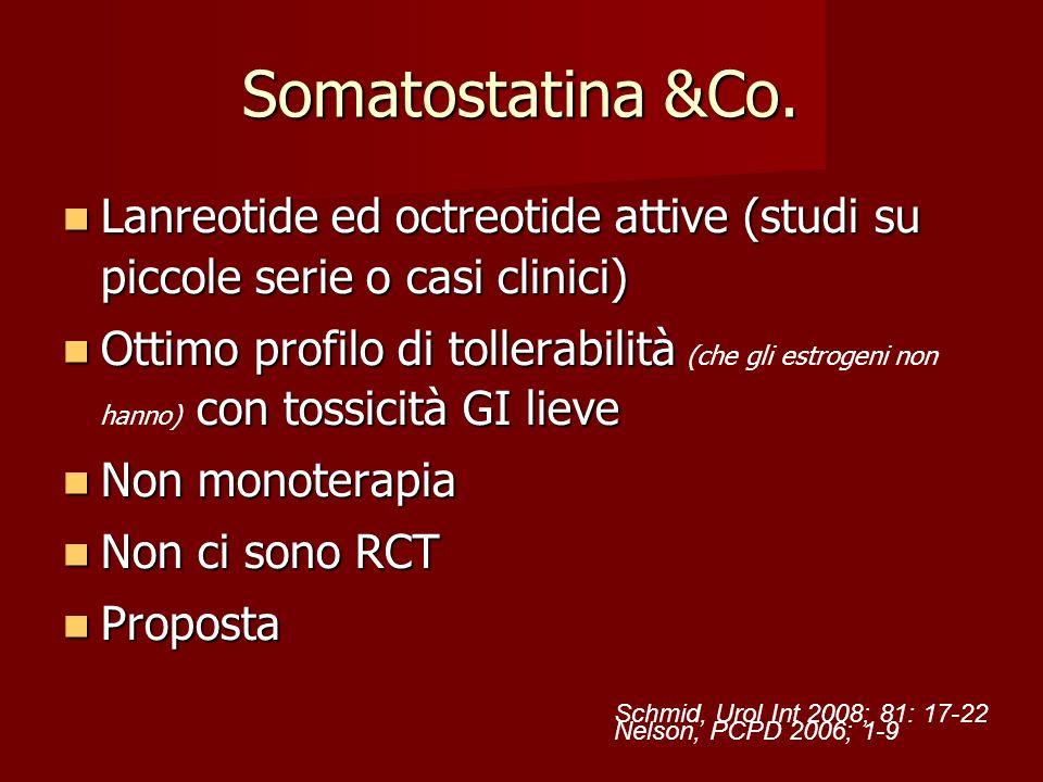 Somatostatina &Co. Lanreotide ed octreotide attive (studi su piccole serie o casi clinici)