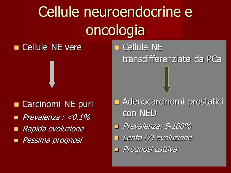 Cellule neuroendocrine e oncologia