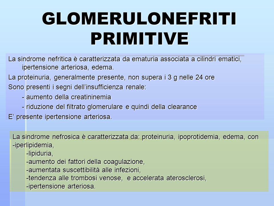 GLOMERULONEFRITI PRIMITIVE